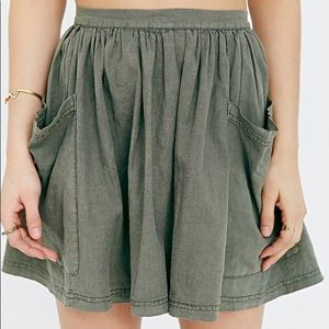 Urban Outfitters army green skirt